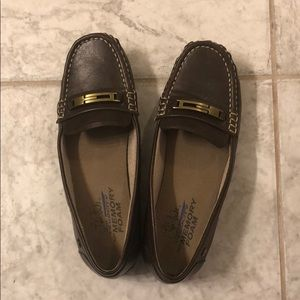 Brown loafer shoes